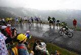 """S.Yatesas laimėjo vieną sunkiausių """"Tour de France"""" etapų, J.Alaphilippe'o persvara """"aptirpo"""""""