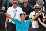Dramatišką pusfinalį laimėjęs R.Federeris vėl taps pirmąja pasaulio rakete