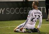 """Įspūdingas D.Beckhamo smūgis per pridėtinį laiką atnešė """"Galaxy"""" ekipai pergalę"""