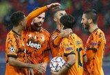 """Čempionų lyga: grubiomis varžovų klaidomis pasinaudojęs """"Juventus"""" iškovojo užtikrintą pergalę"""