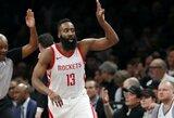 """J.Hardenas atvedė """"Rockets"""" į dar vieną pergalę ir peržengė solidų rodiklį"""