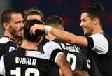 """Italijoje – realizuotas C.Ronaldo 11 m baudinys  ir """"Juventus"""" pergalė"""