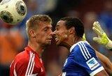 """""""Schalke"""" ir """"Hamburger"""" dvikova pasibaigė rezultatyviomis lygiosiomis"""