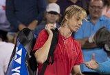18-mečio kanadiečio svajonių žygis baigėsi pusfinalyje, R.Federeris iškopė į finalą
