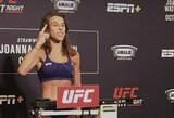 """""""UFC on ESPN+ 19"""" turnyro svėrimai: problemų su svorio metimu turėjusi J.Jedrzejczyk pasiekė reikalaujamą ribą"""