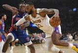 """Los Andžele – L.Jameso trigubas dublis ir sunki """"Lakers"""" pergalė"""