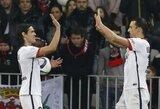 Z.Ibrahimovičius ir E.Cavani sugrąžino PSG į pergalių kelią