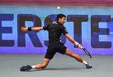 """Po """"Roland Garros"""" finalo grįžęs N.Djokovičius startavo nelengva pergale prieš tautietį"""