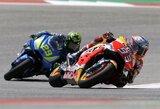 M.Marquezas šeštus metus iš eilės laimėjo JAV GP lenktynes, buvęs lyderis krito nuo motociklo