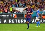 """Į savus vartus mušusi """"Barcelona"""" draugiškose rungtynėse įveikė """"Napoli"""""""
