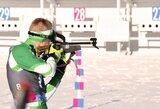 Pasaulio jaunių biatlono čempionate – įspūdingas L.Banio šuolis į viršų