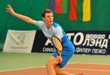 Europos jaunių teniso čempionate lietuviai šventė pergalę tik dvejetų varžybose
