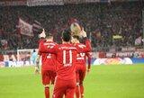 """J.Rodriguezo pelnytas """"hat-trickas"""" paženklintas triuškinama """"Bayern"""" pergale"""