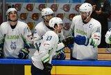 Kovoje dėl išlikimo – NHL žvaigždės į priekį vedama Slovėnija