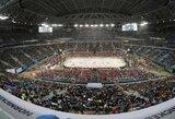 """Futbolo stadione Rusijos ledo ritulio rinktinė laimėjo """"Pirmojo kanalo"""" taurę"""