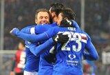 Genujos derbis žiūrovams padovanojo nuostabų futbolo vakarą