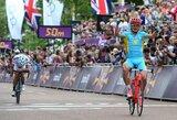 Olimpinių žaidynių grupinėse dviračių lenktynėse triumfavo veteranas A.Vinokurovas, lietuviai pateko į 60-uką