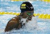 Jamaikietė pakartojo R.Meilutytės pasaulio rekordą, J.Jefimova liko tik trečia