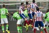 """""""Wolfsburg"""" ir """"Atletico"""" dvikovoje  – triuškinanti Ispanijos čempionų pergalė (+ kiti rezultatai)"""