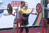 U.Karsokaitė Europos jaunimo klasikinės jėgos trikovės čempionate – 6-a