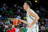 Lietuvos rinktinė įvertino šio vakaro varžovus ir nutarė neregistruoti trijų žaidėjų