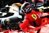 """Daug kritikos sulaukusi """"Ferrari"""" paaiškino savo sprendimą dėl C.Leclerco"""