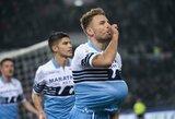 """Romos derbyje – raudona kortelė ir triuškinanti """"Lazio"""" pergalė"""