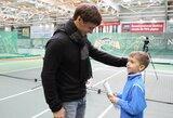 Gimtadienio proga Vilniaus teniso akademija savo auklėtiniams dovanojo teniso turnyrus