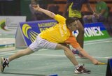 M.Šamesas išmėgino jėgas prieš 32-ąją pasaulio badmintono raketę