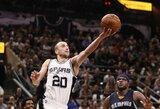"""40-metis M.Ginobili pasirašė naują sutartį su """"Spurs"""""""