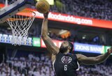 Šokiai su kamuoliu ir dėjimas tapo NBA dienos momentais