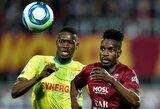 """Dešimtyje rungtyniauti likusi """"Nantes"""" neatsilaikė prieš """"Metz"""""""