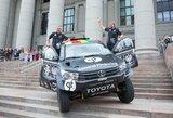 """B.Vanagas pristatė naują Dakaro automobilį – """"Toyota Gazoo Racing Hilux"""""""