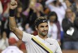 Į pusfinalį patekęs R.Federeris išlaikys pirmąją ATP vienetų reitingo vietą, buvusi antroji pasaulio raketė baigė karjerą