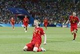 Brazilijos svajonė baigėsi: antrajame kėlinyje atsilaikę belgai žengė į pusfinalį