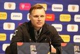 """Virš savo galimybių ribos """"išbėgiojusius"""" žaidėjus gyręs E.Jankauskas: """"Labai noriu, kad A lygos žaidėjai išvažiuotų į užsienį ir patektų į tikrą futbolo aplinką"""""""