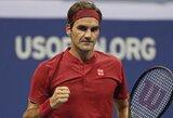 """R.Federeris aštuonioliktą kartą įveikė pirmą """"US Open"""" turnyro etapą"""