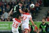 """Be pralaimėjimų Vokietijoje žygiuojantys """"Wolfsburg"""" pakilo į antrą vietą"""