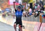 """Beveik 6 valandų """"Giro d'Italia"""" etape – tarp lyderių atsidūręs I.Konovalovo komandos draugas"""