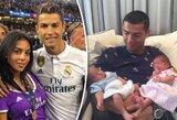 Būsimo C.Ronaldo ir G.Rodriguez vaikelio lytį netyčia atskleidė šokių mokytoja
