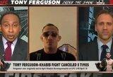 """T.Fergusonas apie Ch.Nurmagomedovą: """"Neturiu nieko prieš tą mėšlo gabalą"""""""
