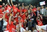 """19 taškų deficitą panaikinę """"Olympiacos"""" krepšininkai - Eurolygos čempionai"""
