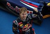 S.Vettelis pergalių skaičiumi susilygino su legendiniu J.M.Fangio