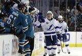 """NHL čempionate """"Lightning"""" šventė dvyliktą pergalę"""