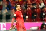 """2 R.Lewandowskio įvarčiai Vokietijoje išplėšė """"Bayern"""" pergalę"""