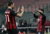 """Europos lyga: Z.Ibrahimovičius nerealizavo 11 m baudinio, tačiau """"Milan"""" iškovojo pergalę"""