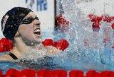 Planetos plaukimo rekordą pagerinusi unikalioji K.Ledecky pasaulio čempionate iškovojo penktą aukso medalį (+ visi prizininkai)