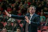 """D.Adomaitis kalbėjo apie pagaliau pasirodžiusią sėkmę, A.Trinchieri mano, kad """"Partizan"""" nenusipelno patekti į kitą etapą"""