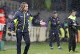 """""""Serie A"""" autsaiderių treneris iš pykčio susilaužė ranką"""