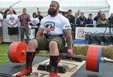 Savižudžio bomba brito nepalaužė: M.Tye atkėlė 505 kg štangą ir tapo pasaulio rekordininku